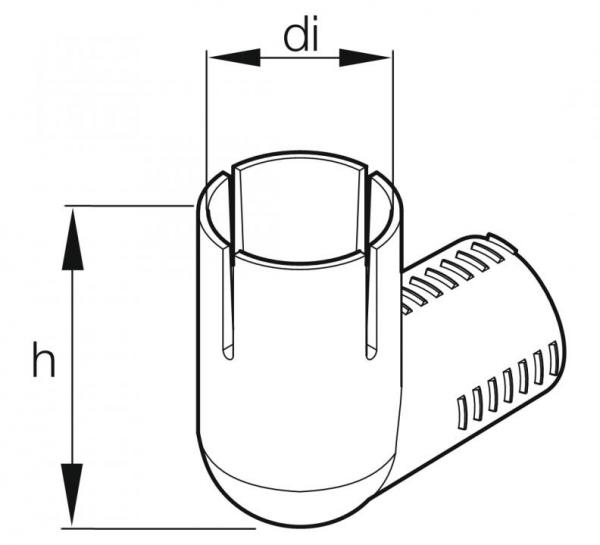 Original Eberspächer Verbrennungsluftbogen 20x20 mm