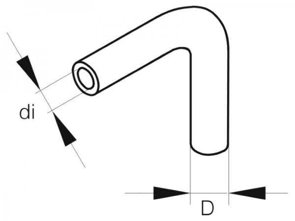 Schlauch B 3,5 Bogen