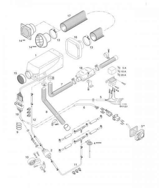 Universal EBS Airtronic D2 Eberspächer