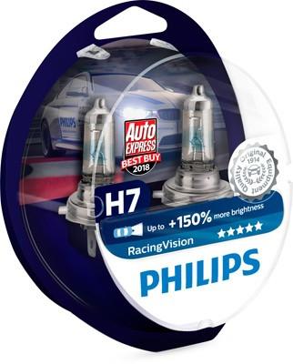 12972RVS2 8719018000248 PHILIPS H7 Glühlampe Hauptscheinwerfer RacingVision