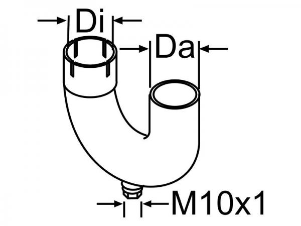 Abgaskrümmer mit Kondensatablauf