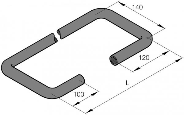 201690810001 Eberspächer Wasserschlauch Formschlauch