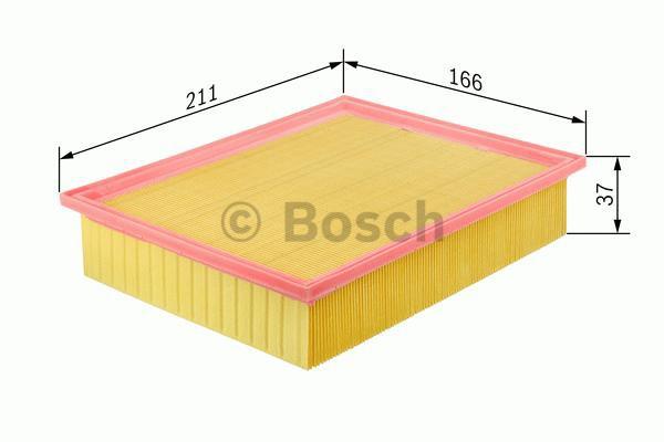 Bosch Luftfiltereinsatz 1457433603 S3603 3165141066913