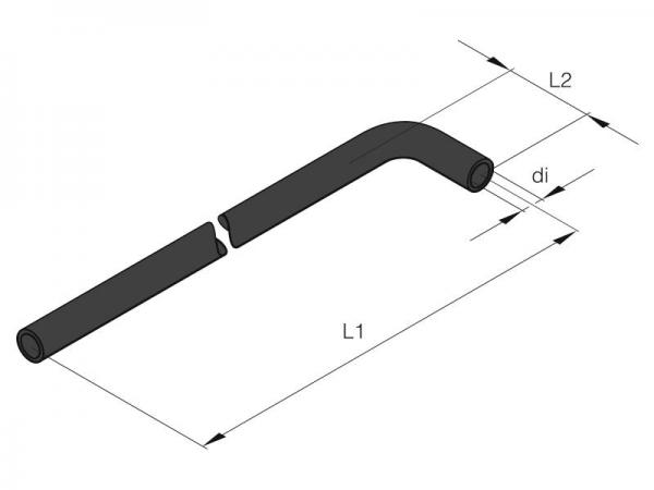201645890001 Eberspächer Wasserschlauch Formschlauch Winkelschlauch