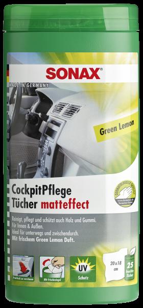 04128000 4064700412804 SONAX CockpitPflegeTücher Matteffect Green Lemon Box