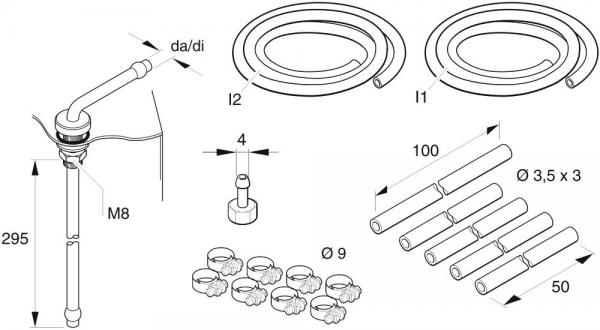 Eberspächer Rüstsatz Brennstoffentnahme Kit Tankanschluss Standheizung Ersatzteile Verbindungsteile 221000201300