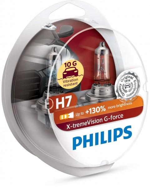 12972XVGS2 8727900355789 PHILIPS H7 Glühlampe Hauptscheinwerfer X-tremeVision G-force